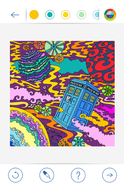 BBC Colouring Doctor Who2